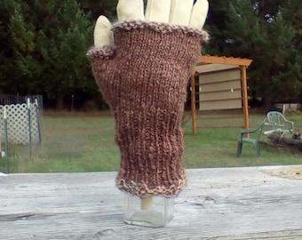 Handspun Handknit Fingerless Gloves