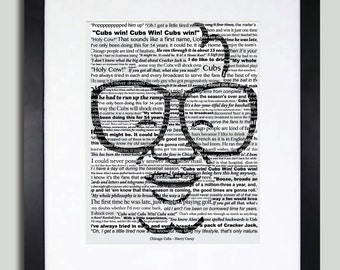 Chicago Cubs - Harry Caray Typography Art - 11x14 Print - Limited Edition - A Collage Of Memorable quotes from Harry Caray (Print Only)