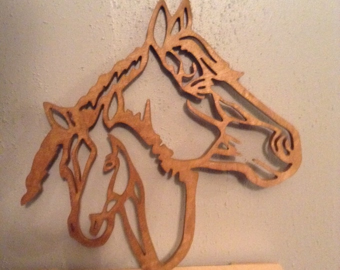 Horse and Pony Silhouette Wall Decor
