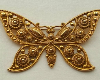 Large butterfly pin