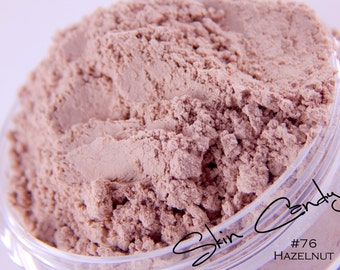 Mineral Foundation 'Hazelnut' #76 Hazelnut Mineral Foundation Makeup Face Medium Skin Tone Skin Care Cacao Powder Foundation
