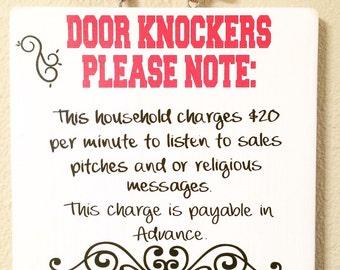 Door Knocker Sign