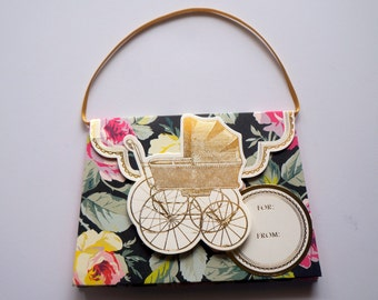 New baby Gift card holder, Handbag Gift Card Holder, Congratulations Giftcard holder, Money holder