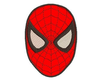 3 Size Spiderman Applique Embroidery Designs, Machine Embroidery Designs - 8 File Fomats - INSTANT DOWNLOAD