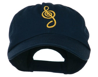 Treble Clef Embroidered Cap