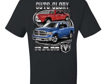 Licensed Dodge Guts And Glory Ram Hemi T-shirt Dodge Truck 1500 2500 100490-T