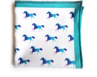 Pocket Square: Arabian Horses