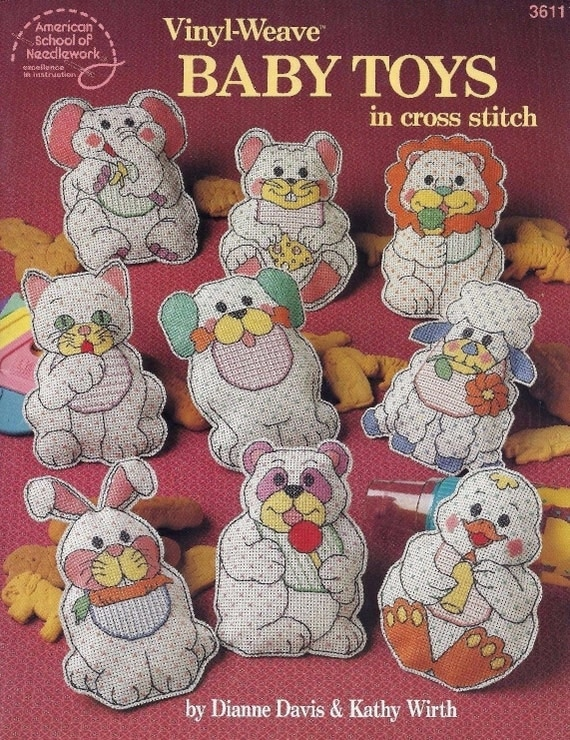 Vinyl Weave Baby Toys Stuffed Doll Cross Stitch By