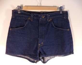 "High-waist hitch hiker short-shorts// ""Thumbs Up"" 70's SEARS jean shorts// Vintage tough skins// Women's  sizes 8 and 10"