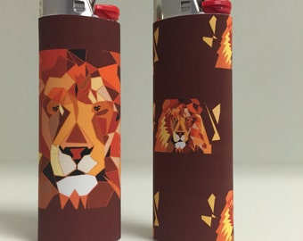 FLASH SALE Leo Lion zodiac sign Custom Lighter