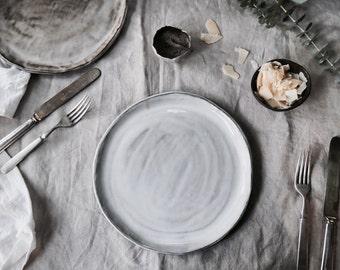 White Chocolate Dinner Plate