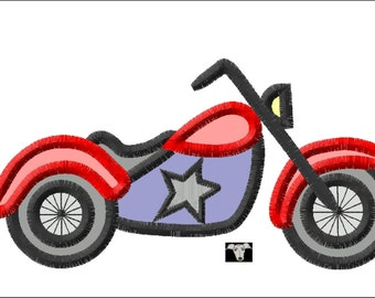 Motorbike Applique & Embroidery Designs in 5 sizes