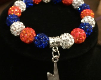 OKC thunder bracelet, Oklahoma City basketball bracelet