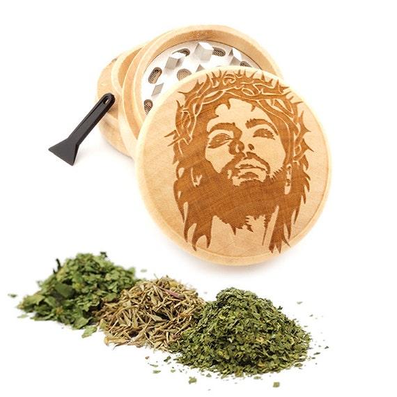 Jesus Engraved Premium Natural Wooden Grinder Item # PW050916-110