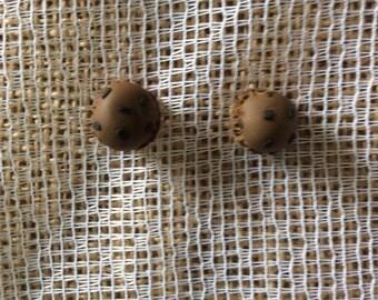 Chocolate chip icecream earrings