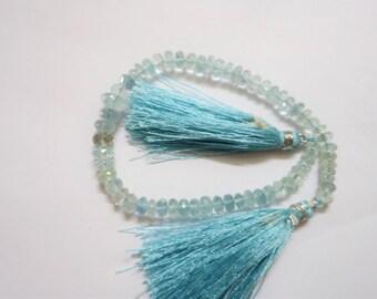 Aquamarine Faceted Rondelle < Aquamarine Rondelle Beads