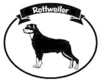 Window Decal - Rottweiler