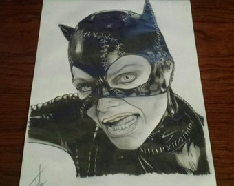 Catwoman 1992 original drawing