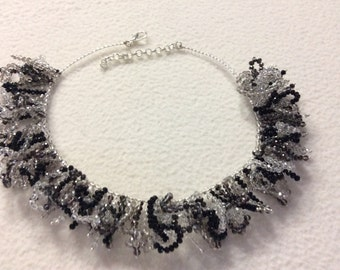 Ice crystals necklace and black curls