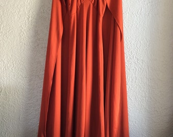 Vintage 1970 Maxi Dress with Matching Cape  On Sale the next one week only!