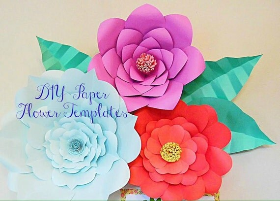 Giant paper flower templates large diy backdrop flowers for Giant paper flower template free
