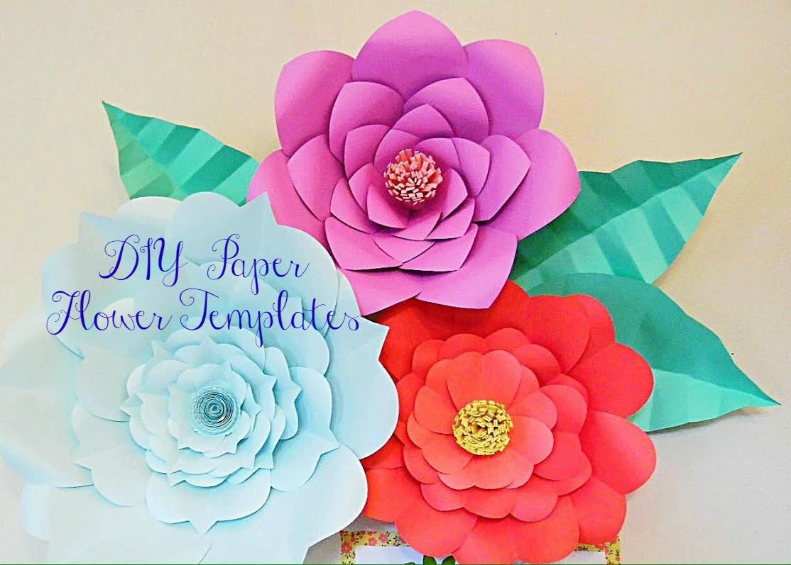 Giant paper flower templates large diy backdrop flowers for Big flower paper template