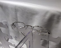 2.25 , 2.00, 2.75 Swarovski Crystal Reading Glasses (silver frame with clear crystal FREE SHIPPING
