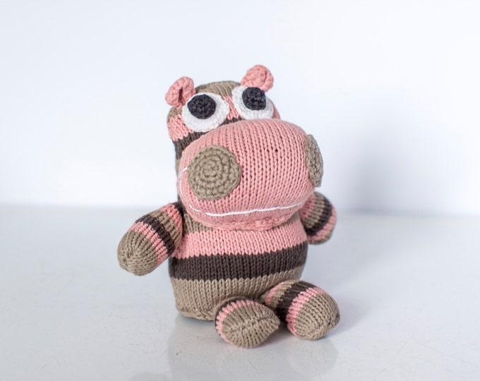 Hand knitted hippopotamus