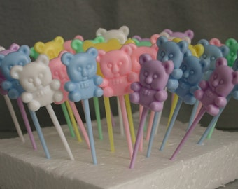 31 Miniature Teddy Bear Cupcake Picks