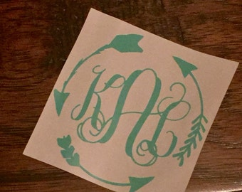 Arrow Frame Monogram Sticker