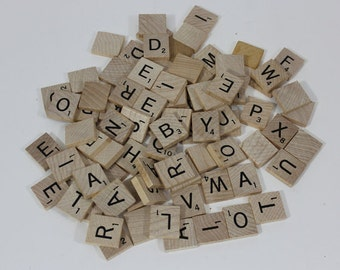 SCRABBLE TILES: D, G, L, Q, S, Z and Blank tiles. You pick, 1.00 each. Great for crafts & collage!
