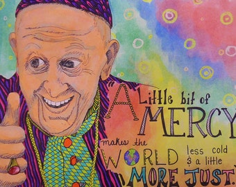 Pope Francis Watercolor and Mixed Media