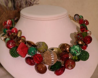 Chunky Statement Necklace - Jolly Holiday Statement Necklace Gold Wire