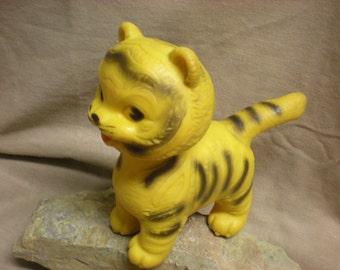 "CLEARANCE! Vintage Arrow Industries Edward Mobley Stripes the Tiger Toy 6"" tall Help Feed Pets!"