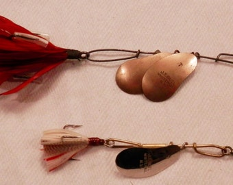 Two Vintage J.T. Buel Spinning Fishing Lures