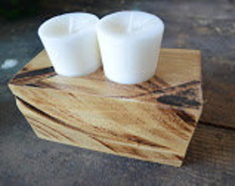 Rough Hewn Candle Holders