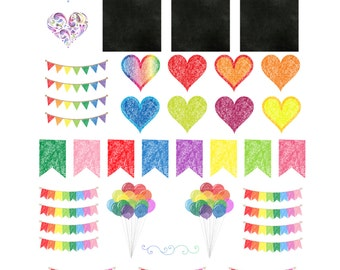 Chalk It Up, Chalkboard themed Stickers by The Rayah Sunshine