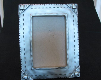 Silver burnished picture frame