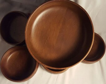 Hellerware Wooden Salad Bowl Set