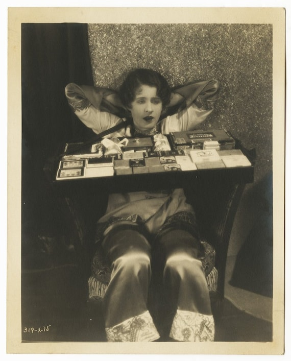1927 Vintage Norma Shearer Photograph Cigarette Girl Costume Hollywood Silent Film After Midnight Comes From Actress's Personal Collection
