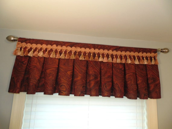Items Similar To Brown Kitchen Bathroom Curtains Valance Valance Kitchen Curtains And Draperies