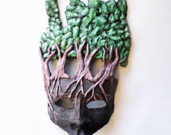 Forest Spirit Mask, unique mask, druid, pagan, cosplay, wiccan, forest, woods, trees, wearable