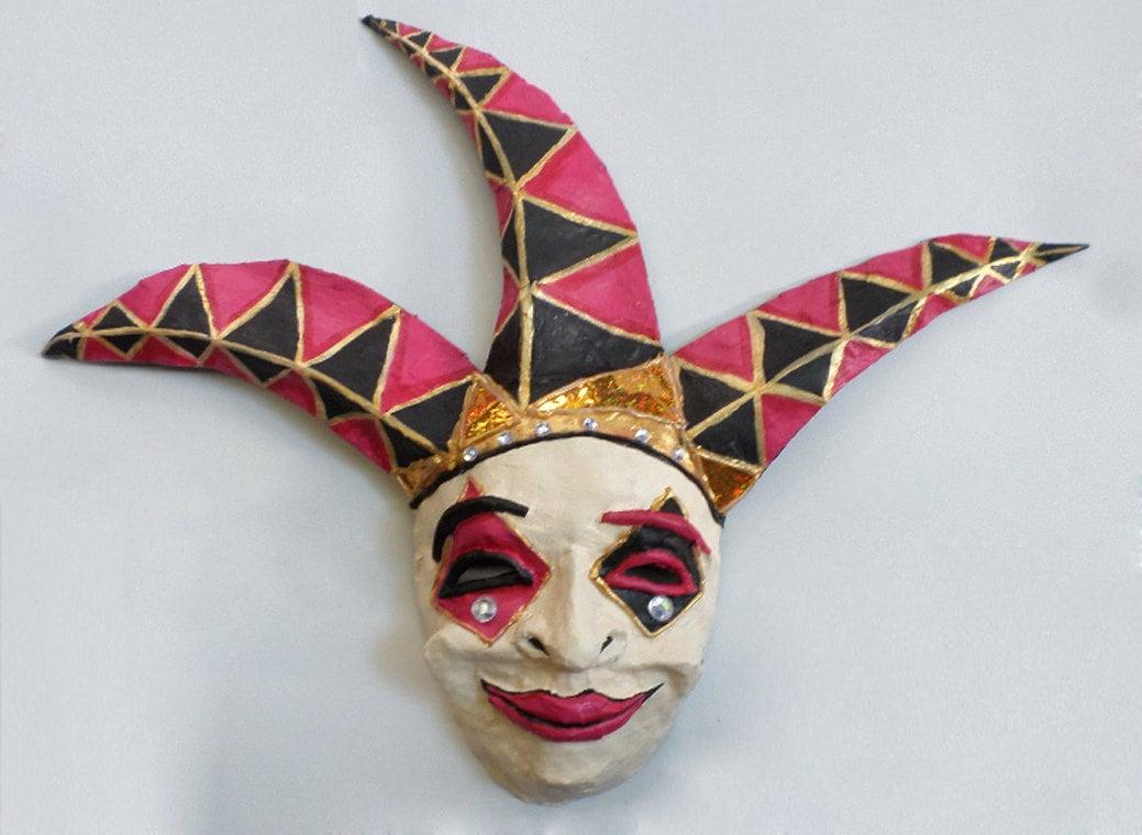 Jester Mask/Venetian Masquerade Ball clown full face mask