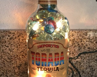 Lighted Torada Tequila Bottle