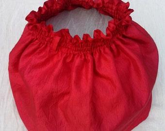Red bow skirt, handmade, luxury,full, gorgeus, , bow, crease effect, dreamskirt.