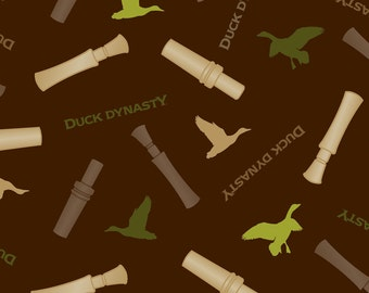 Duck Dynasty Duck Call Fabric Quilt or Craft Home Decor