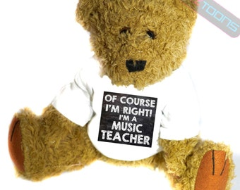 Music Teacher Novelty Gift Teddy Bear
