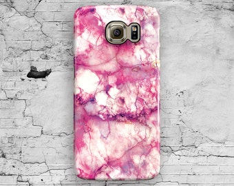 Pink Marble Galaxy S6 Case, Granite Galaxy S7 Case, White Marble Galaxy S6 Edge Galaxy S6 Edge plus, S3 S4 S5 Note 7 3 4 5 Cool Cute Samsung