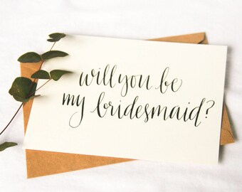 Bridesmaid card•Will you be my Bridesmaid?• Maid of Honor • Flower girl • Wedding card •Bridesmaid card