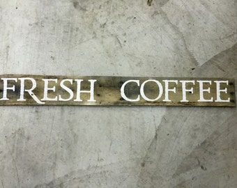 Fresh Coffee pallet wood sign